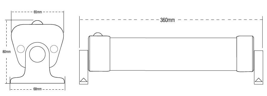 solar led batten light kit
